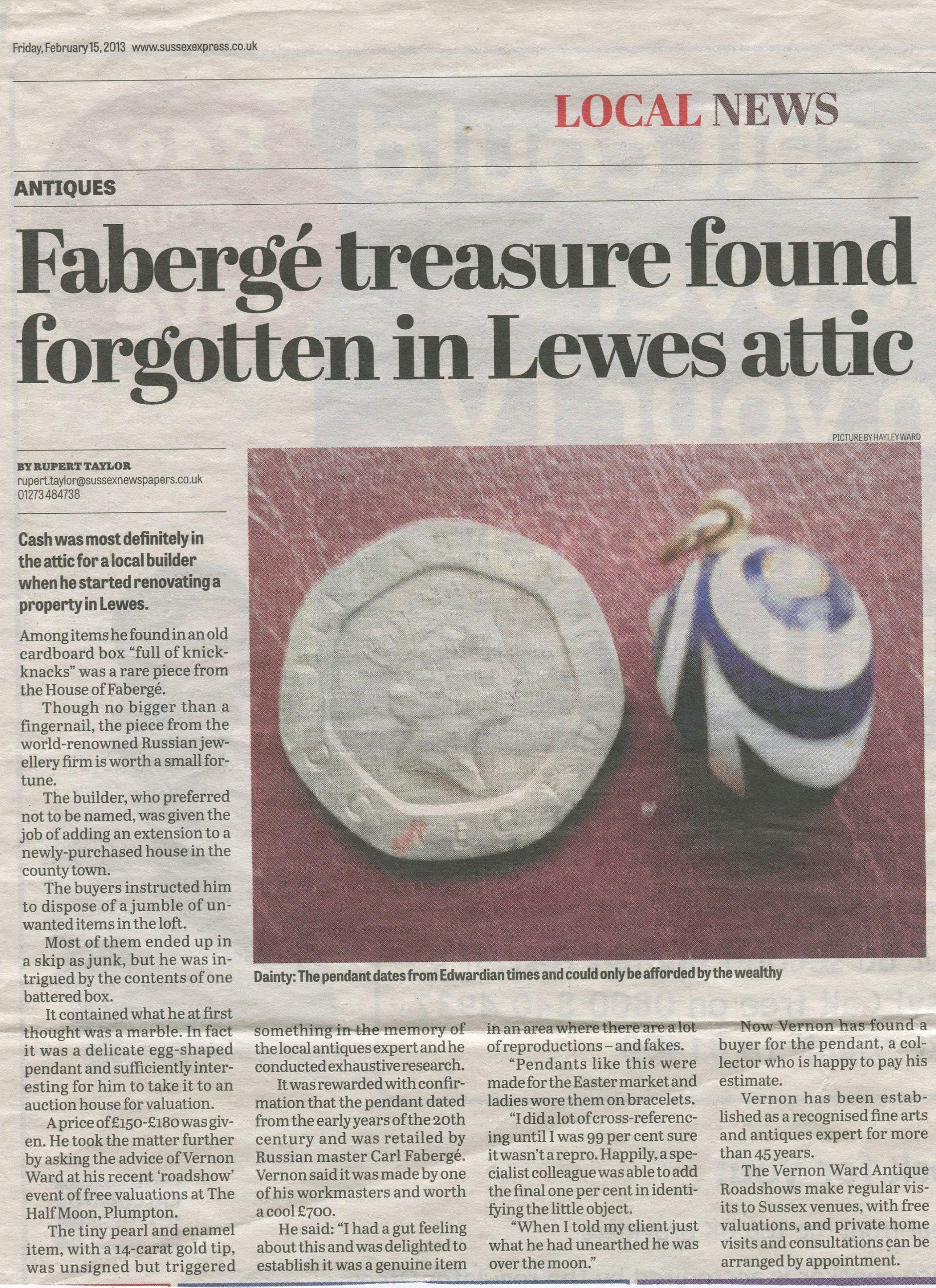 Faberge Treasure Found in Lewis Attic