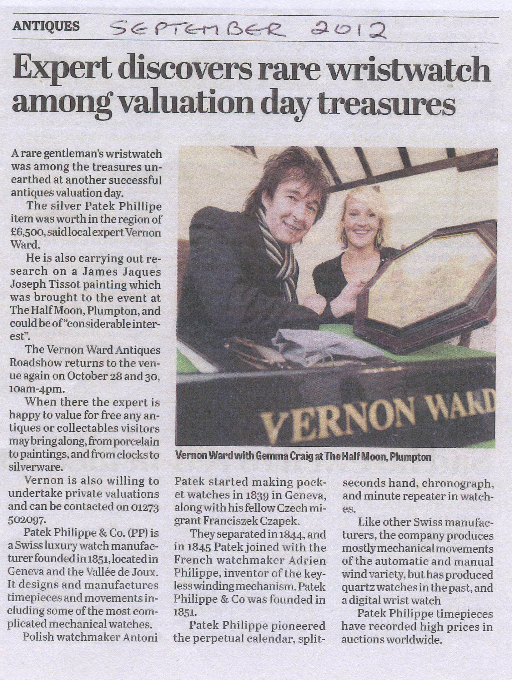 Vernon Discovers Rare Wristwatch